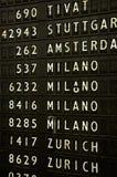 Sinal do aeroporto - informação do vôo Imagens de Stock