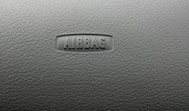 Sinal do airbag da placa do carro Imagens de Stock Royalty Free