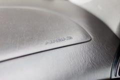 Sinal do airbag em um painel do carro Imagem de Stock Royalty Free