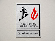 Sinal do alarme de incêndio Fotografia de Stock
