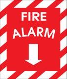 sinal do alarme de incêndio Imagens de Stock