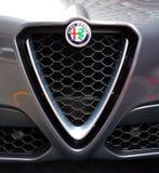 Sinal do alfa Romeo Automobiles Foto de Stock Royalty Free