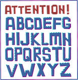 Sinal do alfabeto Foto de Stock Royalty Free