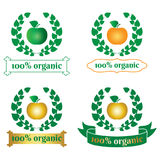 Sinal do alimento biológico, símbolo Fotografia de Stock