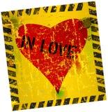 Sinal do amor com coração ilustração do vetor