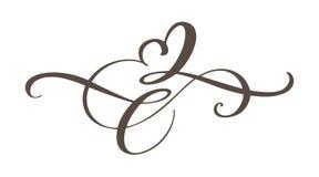 Sinal do amor do coração para sempre O símbolo romântico da infinidade ligado, junta-se, paixão e casamento Molde para a camisa d Imagens de Stock