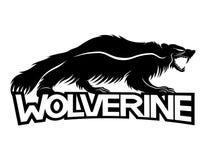 Sinal do animal de Wolverine ilustração stock