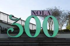Sinal do aniversário do ` de Nova Orleães 300th Fotografia de Stock Royalty Free
