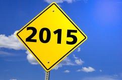 Sinal do ano novo 2015 Fotografia de Stock Royalty Free