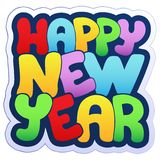 Sinal do ano novo feliz Imagens de Stock