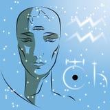 Sinal do Aquário do zodíaco ilustração do vetor