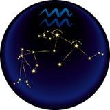 Sinal do Aquarius do zodíaco Imagens de Stock Royalty Free