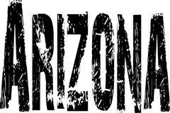 Sinal do Arizona do Grunge ilustração do vetor