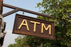 Sinal do ATM Fotos de Stock Royalty Free