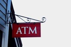 Sinal do ATM fotografia de stock