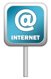 Sinal do azul do Internet Imagem de Stock Royalty Free