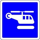 Sinal do azul do helicóptero ilustração royalty free