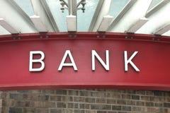 sinal do banco Imagem de Stock Royalty Free