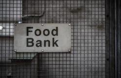 Sinal do banco alimentar Fotos de Stock Royalty Free