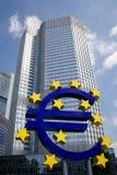 Sinal do Banco Central Europeu imagem de stock royalty free