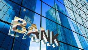 sinal do banco 3d ilustração stock