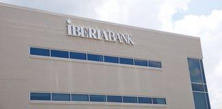 Sinal do banco de Ibéria foto de stock royalty free