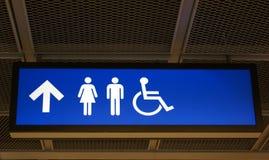 Sinal do banheiro imagens de stock royalty free