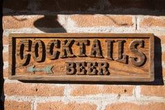 Sinal do bar Imagens de Stock Royalty Free
