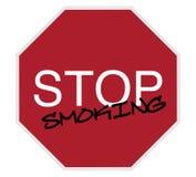 Sinal do batente - pare de fumar ilustração stock