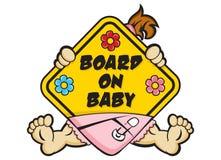 Sinal do bebê a bordo Imagens de Stock Royalty Free