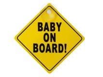 Sinal do bebê a bordo Fotografia de Stock