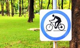 Sinal do bicylce Foto de Stock
