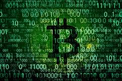 Sinal do bitcoin, moeda cripto mundial imagem de stock