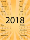 Sinal do calendário do molde 2018 Ícones coloridos do estilo cômico do pop art Vetor Fotos de Stock