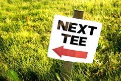 Sinal do campo de golfe Imagens de Stock