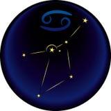 Sinal do cancro do zodíaco Fotografia de Stock