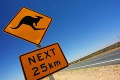 Sinal do canguru Foto de Stock Royalty Free