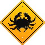 sinal do caranguejo Imagem de Stock