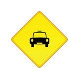 Sinal do carrinho de táxi ilustração royalty free