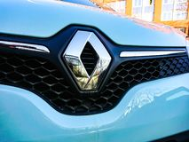 Sinal do carro de Renault fotos de stock