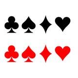 Sinal do cartão de jogo ilustração stock