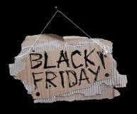 Sinal do cartão em um cabo e na inscrição BLACK FRIDAY Foto de Stock