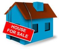 Sinal do casa e a home da hipoteca Fotografia de Stock