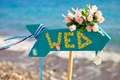 Sinal do casamento foto de stock