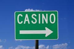 Sinal do casino fotografia de stock