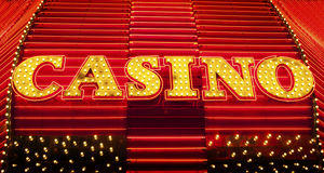 Sinal do casino Foto de Stock