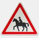 Sinal do cavaleiro do cavalo Imagem de Stock Royalty Free