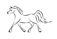 Sinal do cavalo do vetor Fotografia de Stock Royalty Free