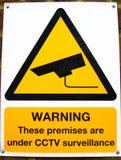 Sinal do CCTV Imagens de Stock Royalty Free