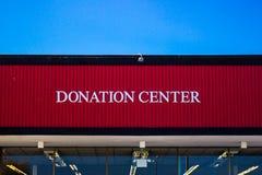 Sinal do centro da doação da loja de produtos usados Imagem de Stock Royalty Free